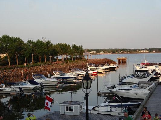 Segelboote im Hafen von Charlottetown auf Prince Edward Island.