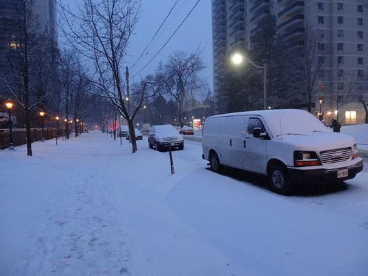 Einer der wenigen Schnee-Tage im Winter 2016 in Toronto.
