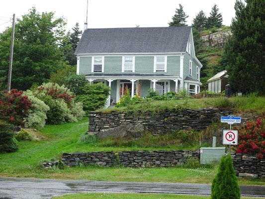 Urlaub in Neufundland: Haus in Brigus.