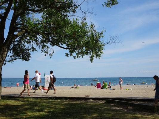 Parks und Sandstrand : Der Woodbine Beach in Toronto.