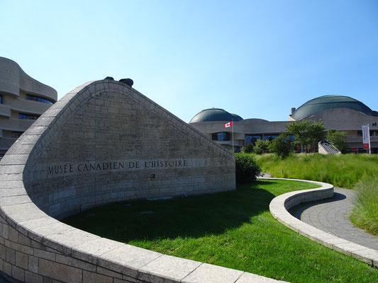 Urlaub in Ottawa: Eingang zum Canadian Museum of History in Gatineau.
