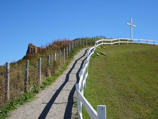 Urlaub in Quebec: Aufstieg zur Steilküste bei Percé.