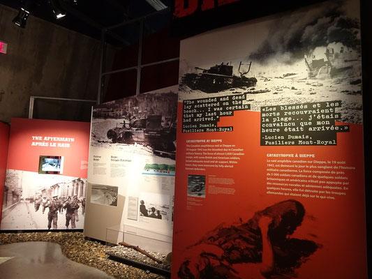 Kriegsmuseum in Ottawa: Kanadische Soldaten waren in der britischen Armee für ihre Tapferkeit berühmt, erlitten aber oft auch furchtbare Verluste.