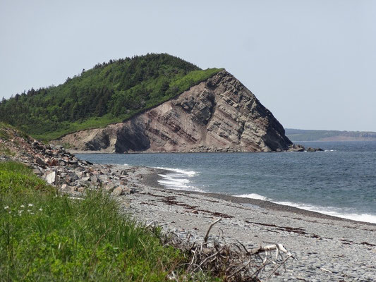 Felsen am Cabot Trail im Cape Breton Highlands National Park.