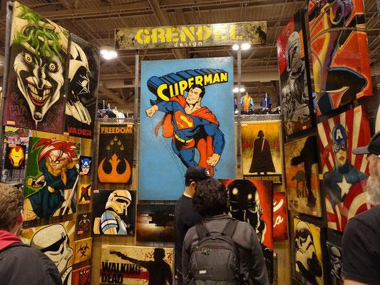 Toronto Comicon 2017: Dieser Stand bietet Gemälde feil.