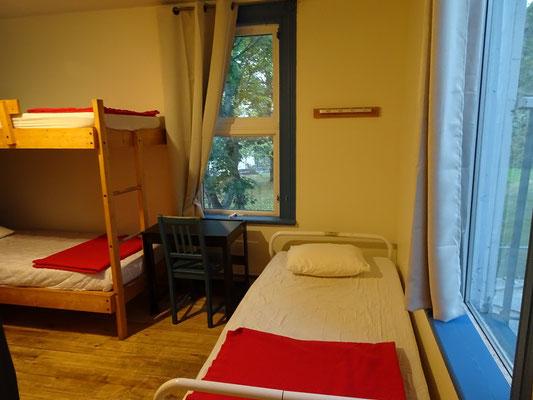 Urlaub in Quebec: Kleine, aber gepflegte Zimmer in der Jugendherberge in Riviére-du-Loup.