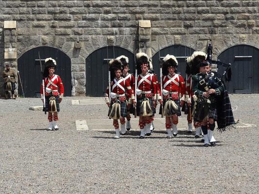 Historische Vorführung beim Canada Day auf der Zitadelle von Halifax.