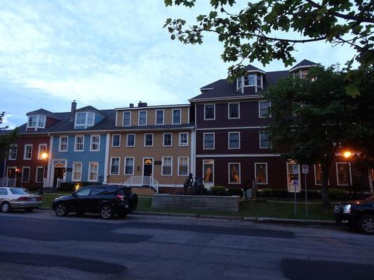 Liebevoll renovierte Häuser in Charlottetown, Price Edward Island.