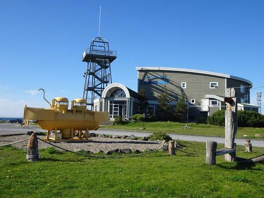 Urlaub in Quebec: Blick auf das Exploramer in Sainte-Anne-des-Monts.
