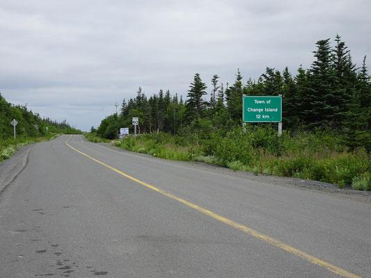 Die meisten Einwohner von Change Island leben am Nordende der Insel.