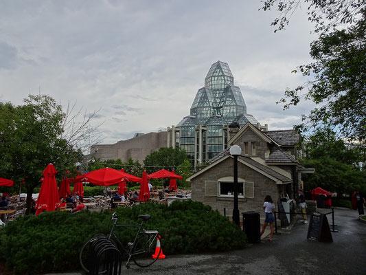 Urlaub in Ottawa: Kleine Gaststätte im Major's Hill Park.