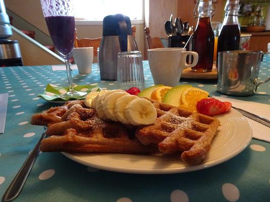Urlaub in Quebec: Frühstück im Bed & Breakfast auf der Ostseite des Forillon Nationalparks.