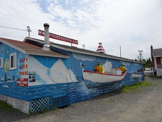Urlaub in Neufundland: Aussenansicht des Fischereimuseums Prime Berth in Twillingate.