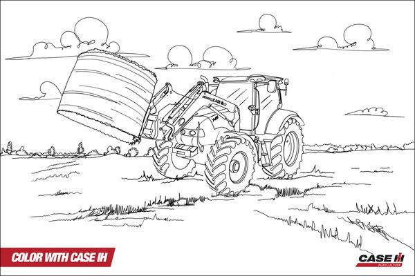 malvorlagen traktor case | kinder ausmalbilder