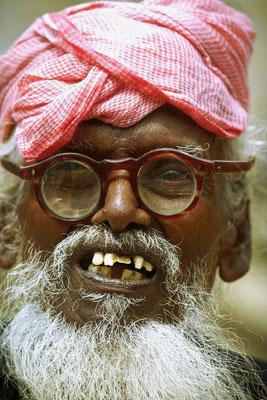 1982: Alter Mann in Südindien