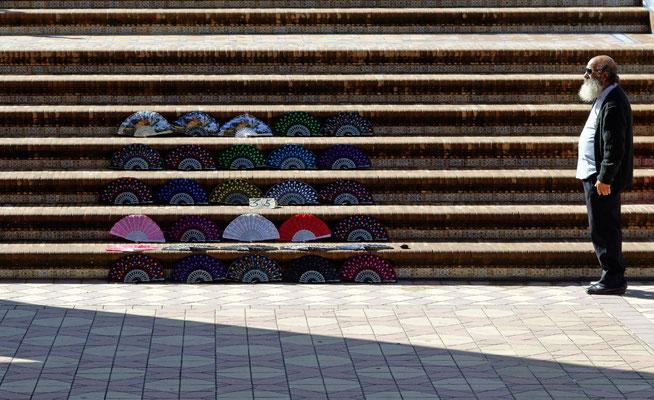 2015: Verkauf von Fächern in Sevilla