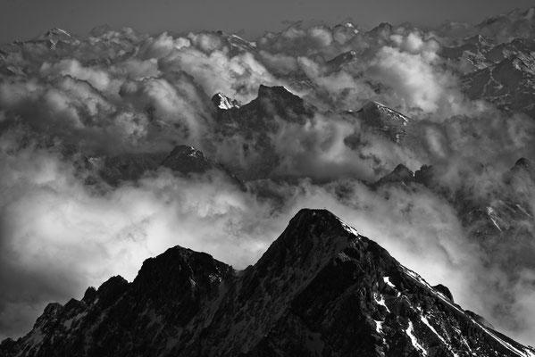 2017: Blick von der Zugspitze über die Alpen