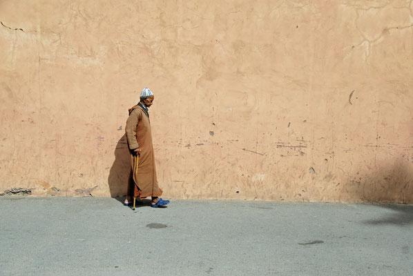 2008: Marrakesch: auf dem Weg von der Moschee nach Hause