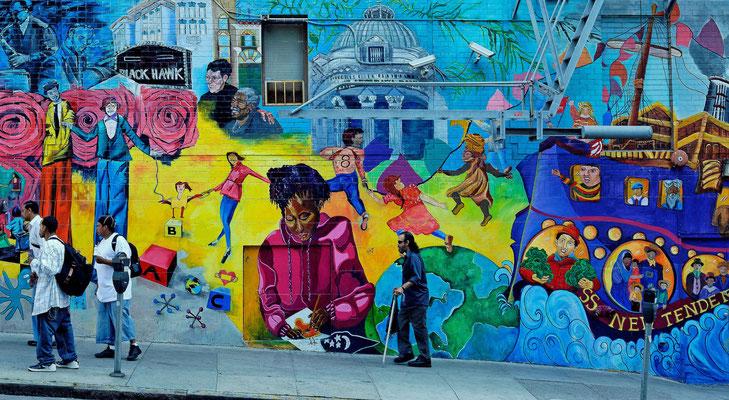 2011: Bunte Häuser in San Francisco