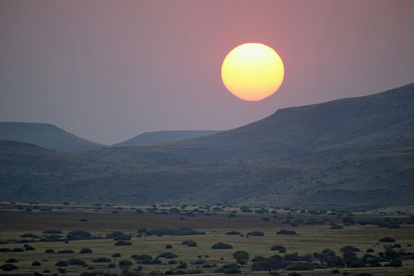 2014: Sonnenuntergang in Namibia