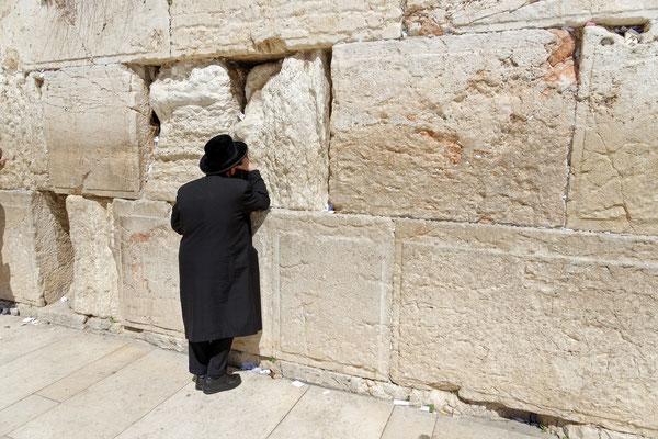 2014: Jerusalem, an der Klagemauer