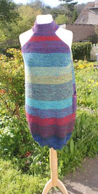 buntes Pulloverkleid Madlen ohne Ärmel aus Merinowolle