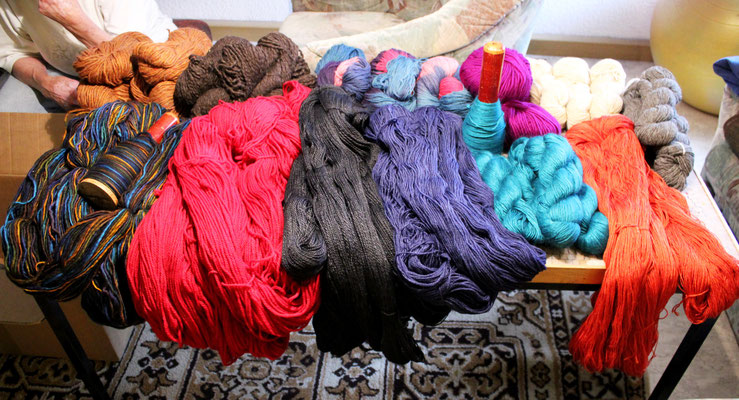 Wollieferung vom Mellerschten Schafhof, ökologische Wolle für ritsch-ratsch