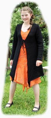 Jacke aus Leinen und Synthetik mit Bändchen vorne > 120 €
