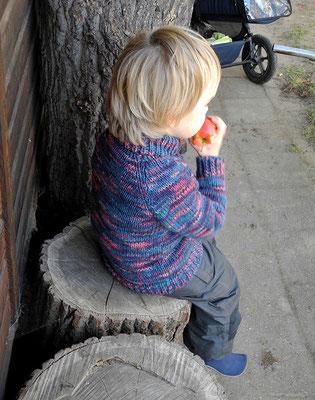 """Kinderjacke für die kalte Jahreszeit aus reiner ökologischer Wolle vom """"Mellerschter Schafhof"""""""