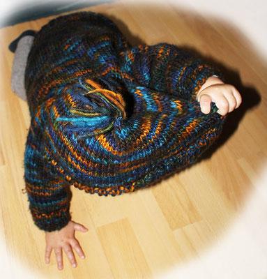 """Kleinstkindjacke aus reiner ökologischer Wolle vom """"Mellerschter Schafhof"""""""