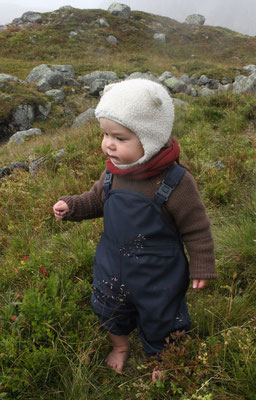 """Outdoorpullover  + Halsteil in Norwegen > mehr Infos unter """"Werkstücke"""""""