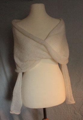 Hochzeitsbolero mit groooßem Kragen individuell gestrickt von ritsch-ratsch