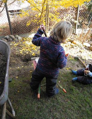 """Kinderjacke aus reiner  ökologischer Wolle vom """"Mellerschter Schafhof"""""""