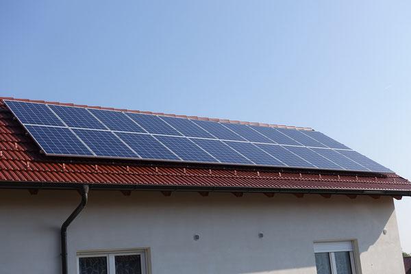 Photovoltaik zur nachhaltigen Stromproduktion ist vorhanden