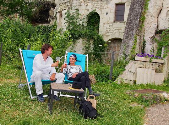Denise Sigg und Daniel Fritschi in Frankreich