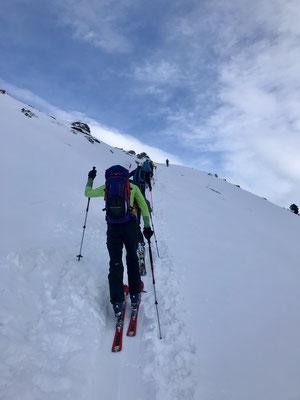 Denise Sigg, Pascal Sigg, Andreas Sigg, Daniel Fritschi, Manuel Sigg auf dem Chistihubel 2216m