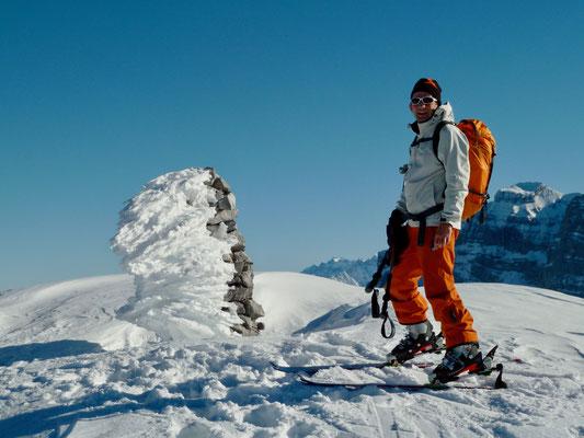 Daniel Fritschi Skitour auf den Mutteristock