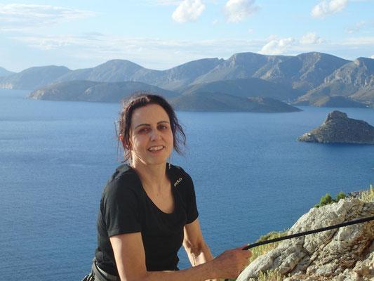 Denise Sigg auf Kalymnos