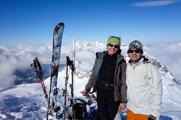 Denise Sigg und Daniel Fritschi auf Skitour