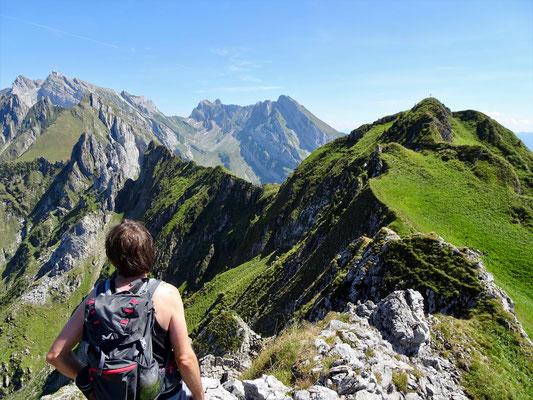 Gipfelgrat Lütispitz zum Schafwisspitz T5