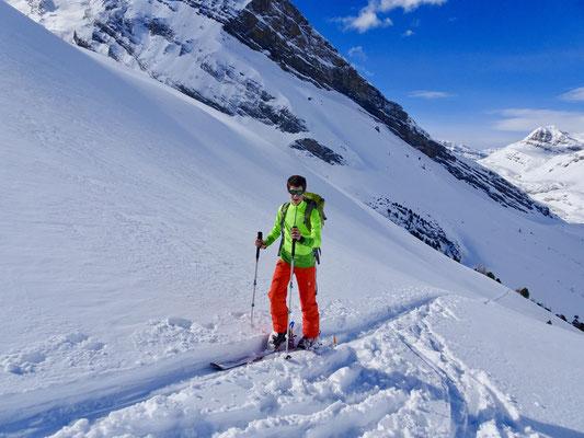Manuel Sigg macht eine Skitour auf das Tatelishorn