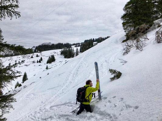 Daniel Fritschi Skitour auf den Redertenstock 2295m