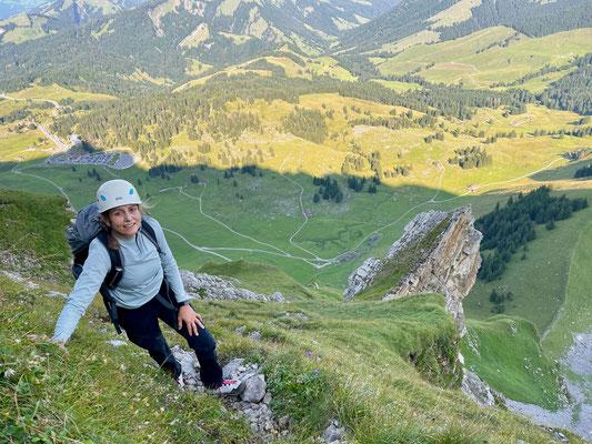 Denise Sigg auf der Chammhaldenroute