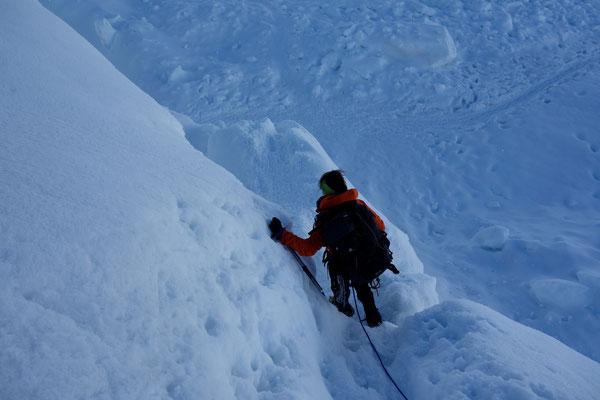 Denise Sigg auf dem Mont Blanc du Tacul 4248m