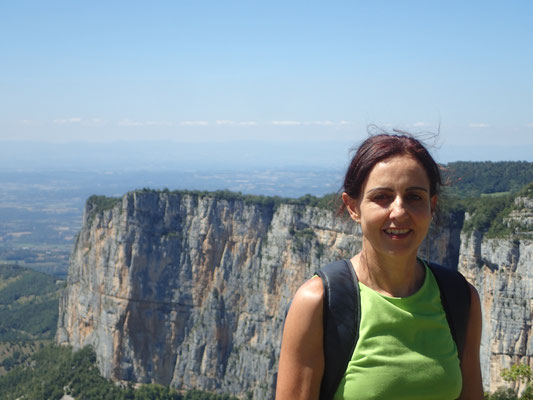 Denise Sigg beim Klettern