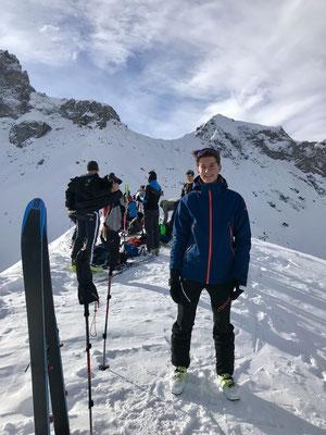 Manuel Sigg auf dem Chistihubel 2216m