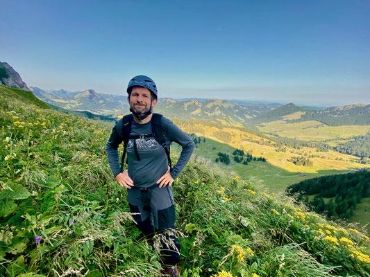 Daniel Fritschi auf der Chammhaldenroute