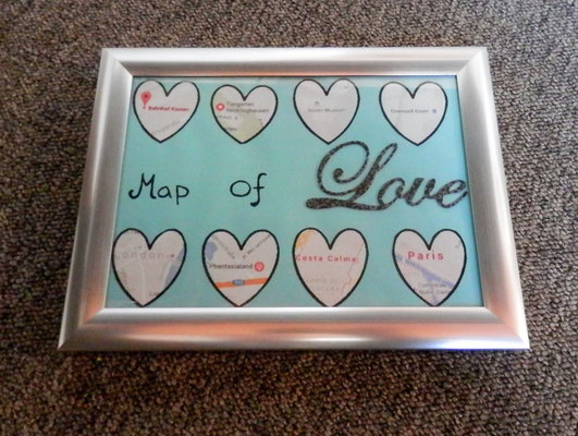 Map of Love basteln