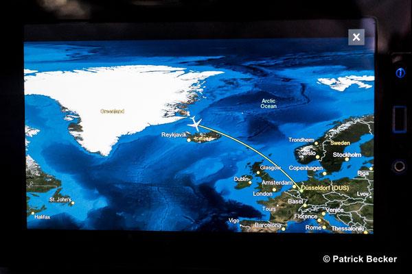 Über der wunderschönen Landschaft von Grönland