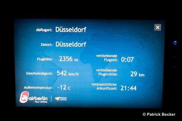 Auf dem Weg zurück nach Düsseldorf